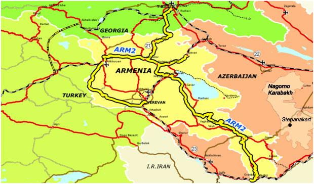 map Armenia Rail 01